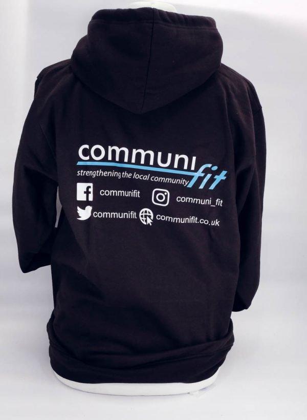 Revers black communifit hoodie